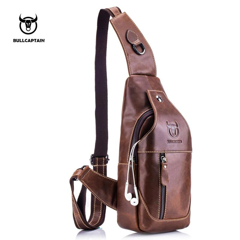 61c5c8f599 Fashion Genuine Leather Crossbody Bags Men Casual Messenger Bag Small Brand  Designer Male Shoulder Bag Chest Pack Cheap Purses Handbags For Women From  ...