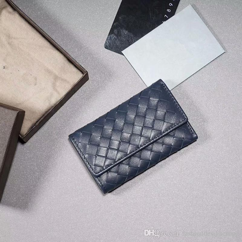 Free Shippment Wholesale Designer Genuine Leather Hand Woven Short Men S  Wallet Fashion Short Wallet Lover S Key Holder Five Colors Gift Box Tooled  Leather ... feef137c746