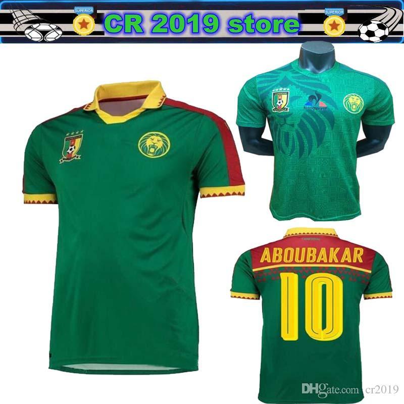 f4ed9d760ec 2019 2019 World Cup Cameroon Soccer Jersey 19 20 Thai Quality National Team  Vincent Aboubakar Benjamin Men Home Football Shirt Size S XXL From Cr2019