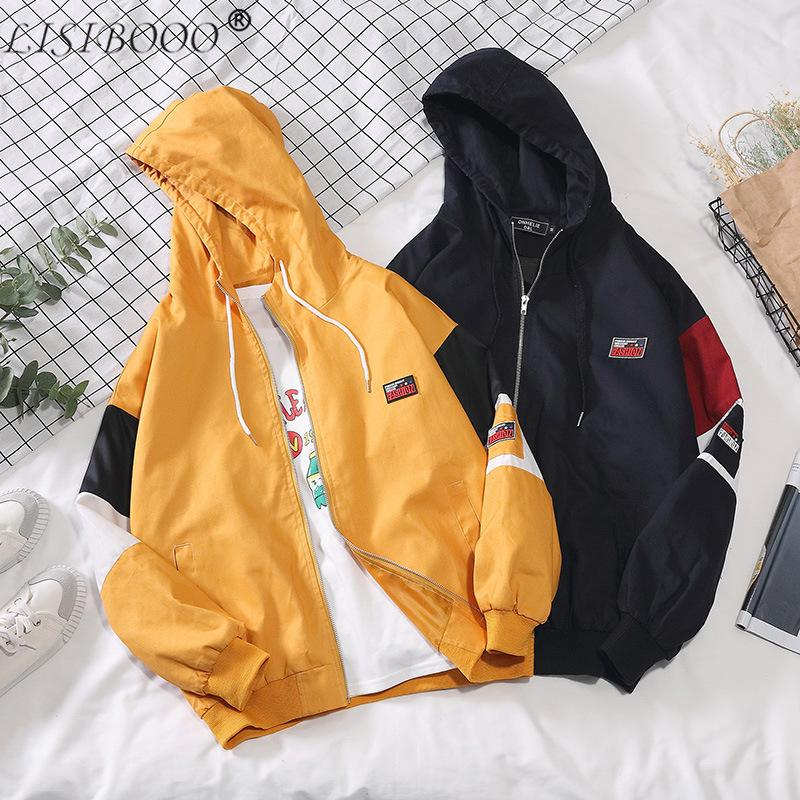 Casual Mens Jackets Waterproof Hooded Jacket Men Outerwear Casual Jackets New Mens Jacket Loose Letter Hit Color Coat