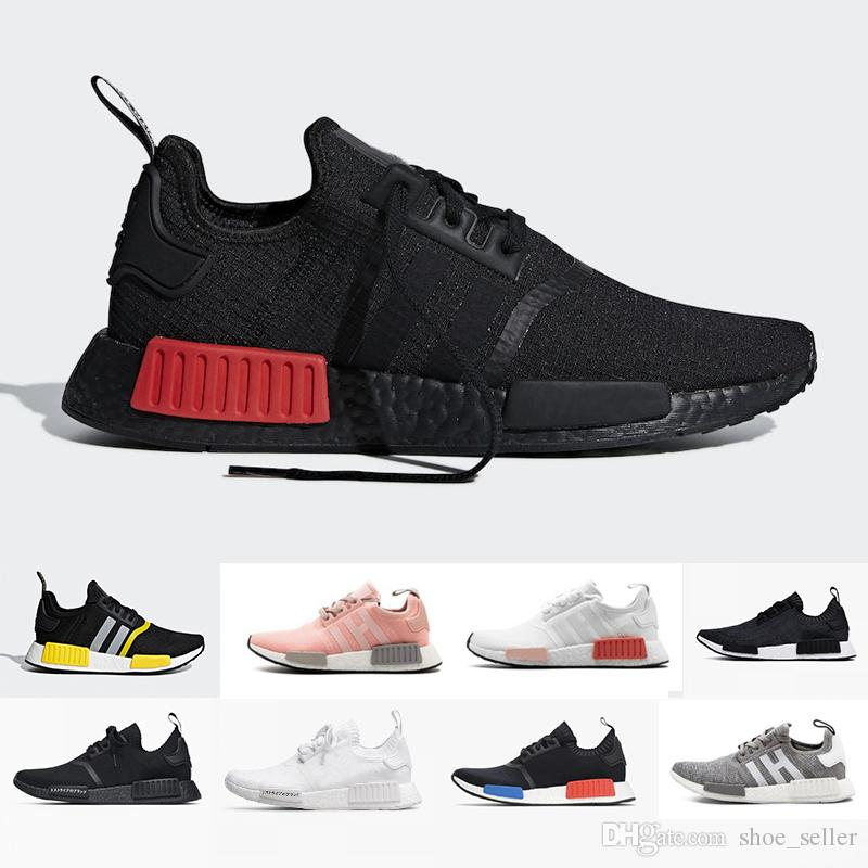 16c3283b0 2019 NMD R1 Primeknit Japan Triple Black White Red OG Pink Men Women  Running Shoes Runner Breathable Sports Shoe Trainer Fashion Sneakers Top  Running Shoes ...