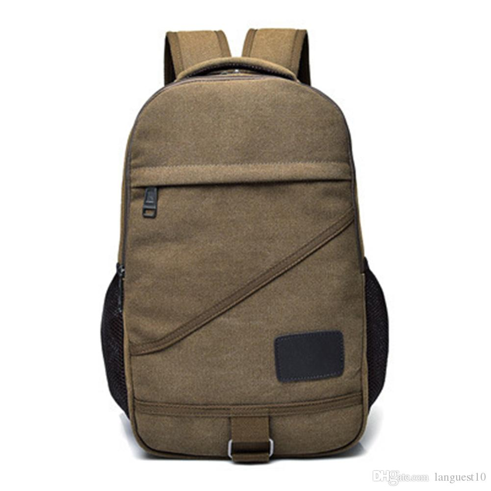 b5ff1f37f9 2019 15.6 Inch Laptop Backpack Men And Women Shoulder Bag Casual Backpack  Canvas College Travel Backpack