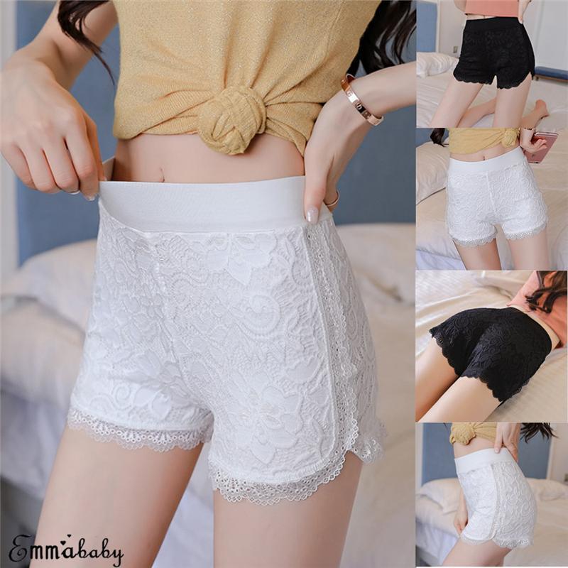 Sexy Lace Sob Segurança curto Pants Mulheres Underwear Seamless Curto Femme Ladies Shorts Plus Size XXXL
