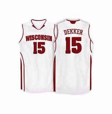 89a233111e4 2019 #15 Sam Dekker Wisconsin Badgers College Basketball Jersey All Size  Embroidery Stitched Customize Any Name And Name XS 6XL Vest Jerseys From ...