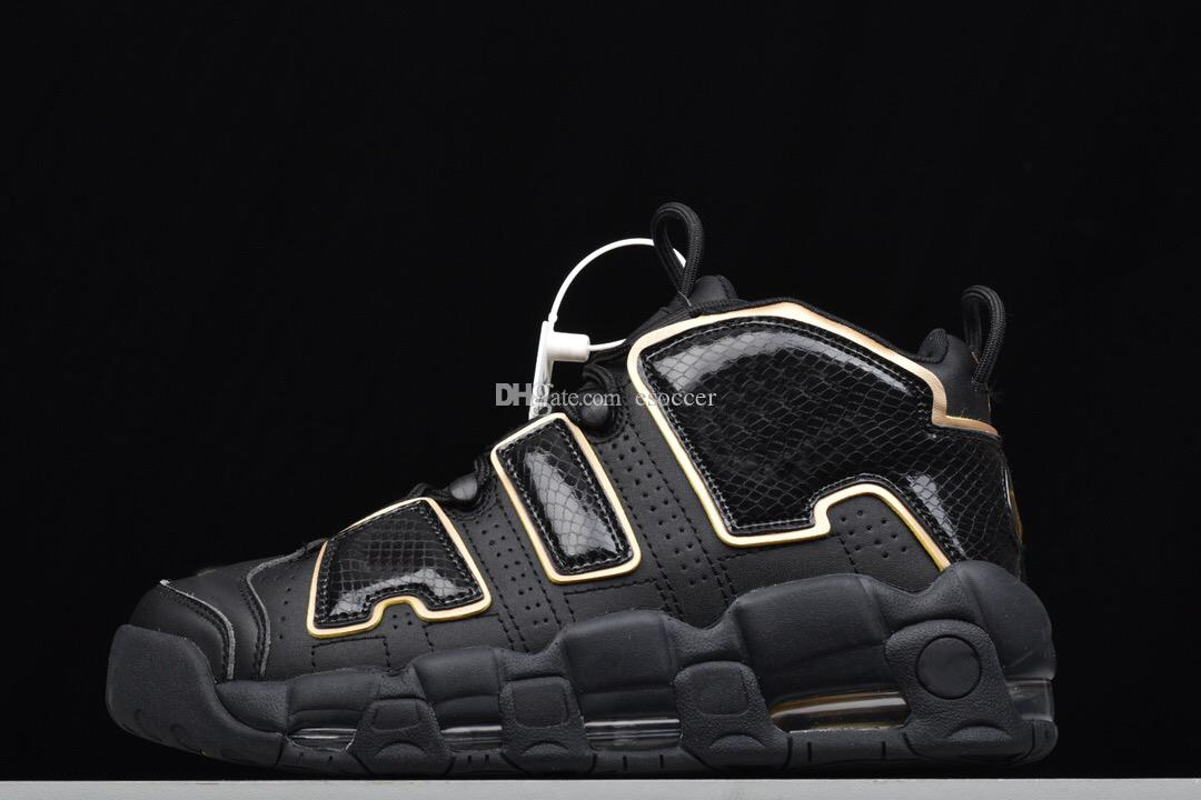 2019 New Uptempo 96 Italy QS Basketball Shoes Black Gold Womens Mens Green  White Red Leather Sports Running Sneakers Shoes From Esoccer 51acd12c9