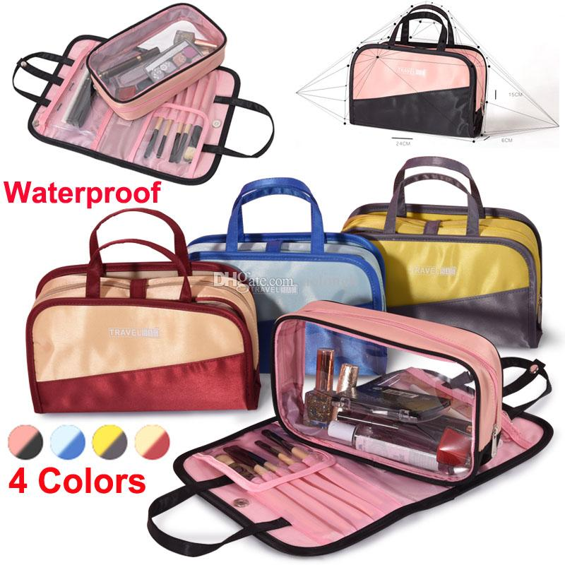 c4a7fd0f7e New Korean Makeup Bag Organizer Storage Cosmetic Bags Underwear Wash Bag  Large Capacity Travel Toiletry Pouch Waterproof Makeup Brush Bags Cosmetic  Cases ...