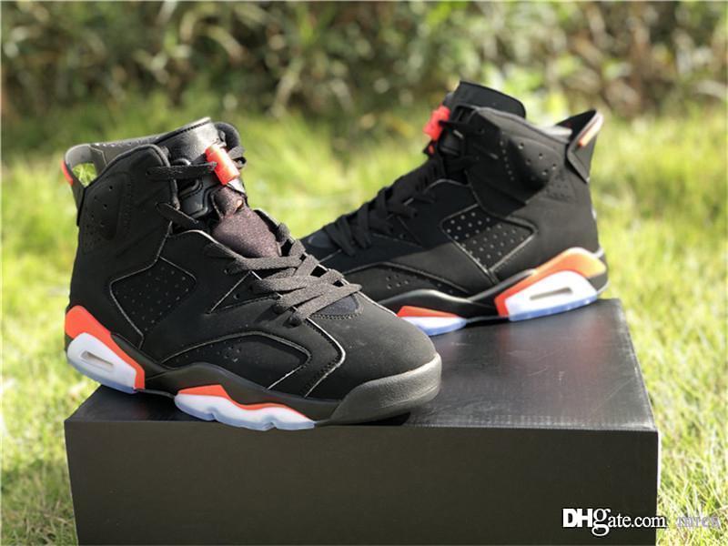 438dac9c73cbfa ... 40 47  2019 2018 authentic 2069jordan 6 og black infrared retro basketball  shoes man red sports sneakers 384664