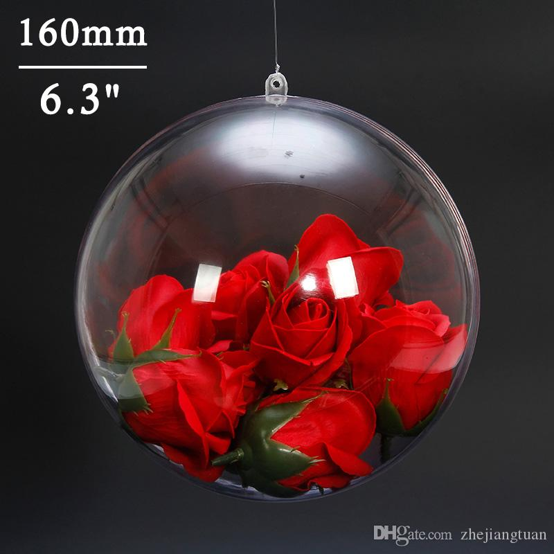 Clear Christmas Ball Ornaments 160mm Xmas Ornaments Christmas Decorations Hanging Balls for Holiday Wedding Party Decoration Tree Ornaments