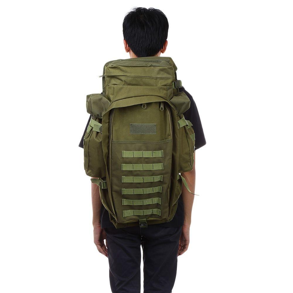 89e0a2e1e2e2 60L Outdoor Backpack Pack Rucksack For Hunting Camping Trekking Hiking  Traveling Backpacks Waterproof Bags 1000D Nylon Laptop Rucksack Backpacks  For College ...