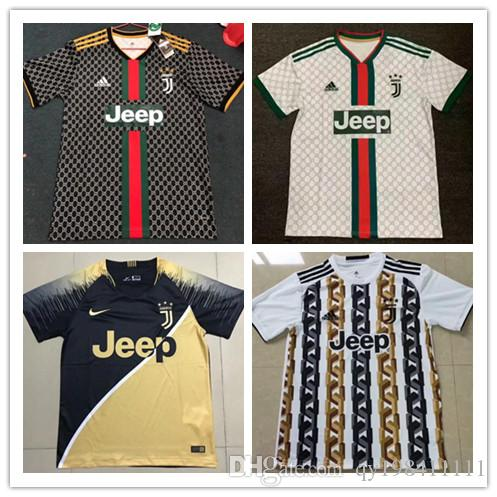 d1cfe3872 2019 Optimum Quality JUVENTUS Soccer Jerseys DYBALA RONALDO Soccer  Commemorative Edition Football Uniforms JUVE GC Short Sleeve Training Shirt  From ...