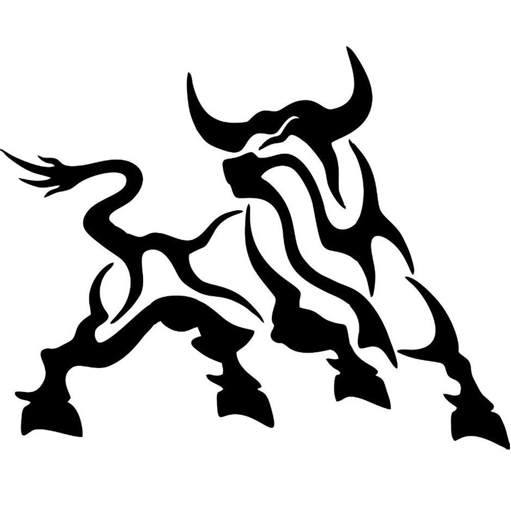 2019 bull car stickers vinyl stickers tribal cattle jdm car bumper window buffalo accessories decorative personality from xymy797 3 82 dhgate com