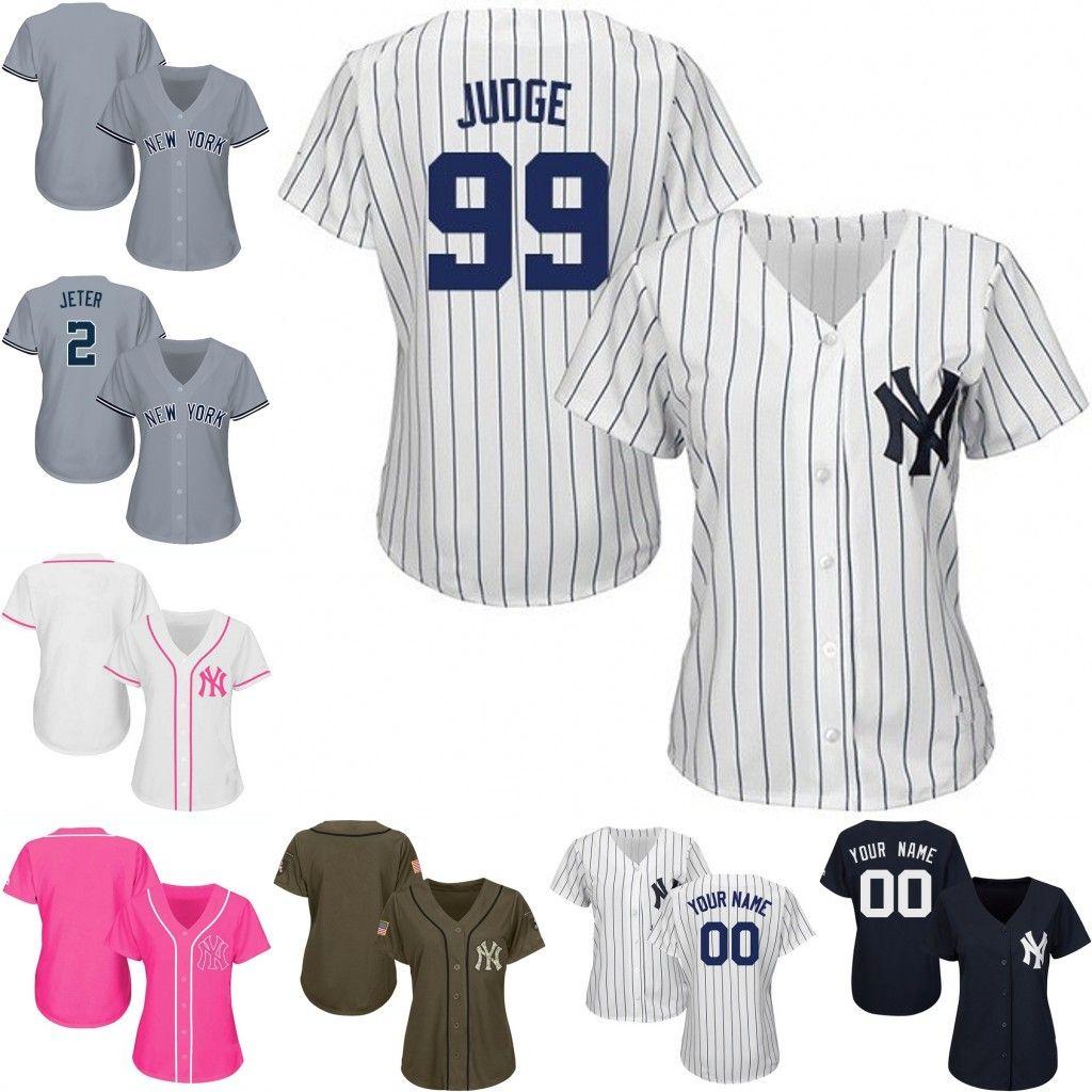 2019 Womens Custom New York Yankees Aaron Judge Giancarlo Stanton Didi  Gregorius Odell Beckham Jr Derek Jeter 2019 Baseball Player Jersey From  Jerseyoutlets ... ea654c214ca