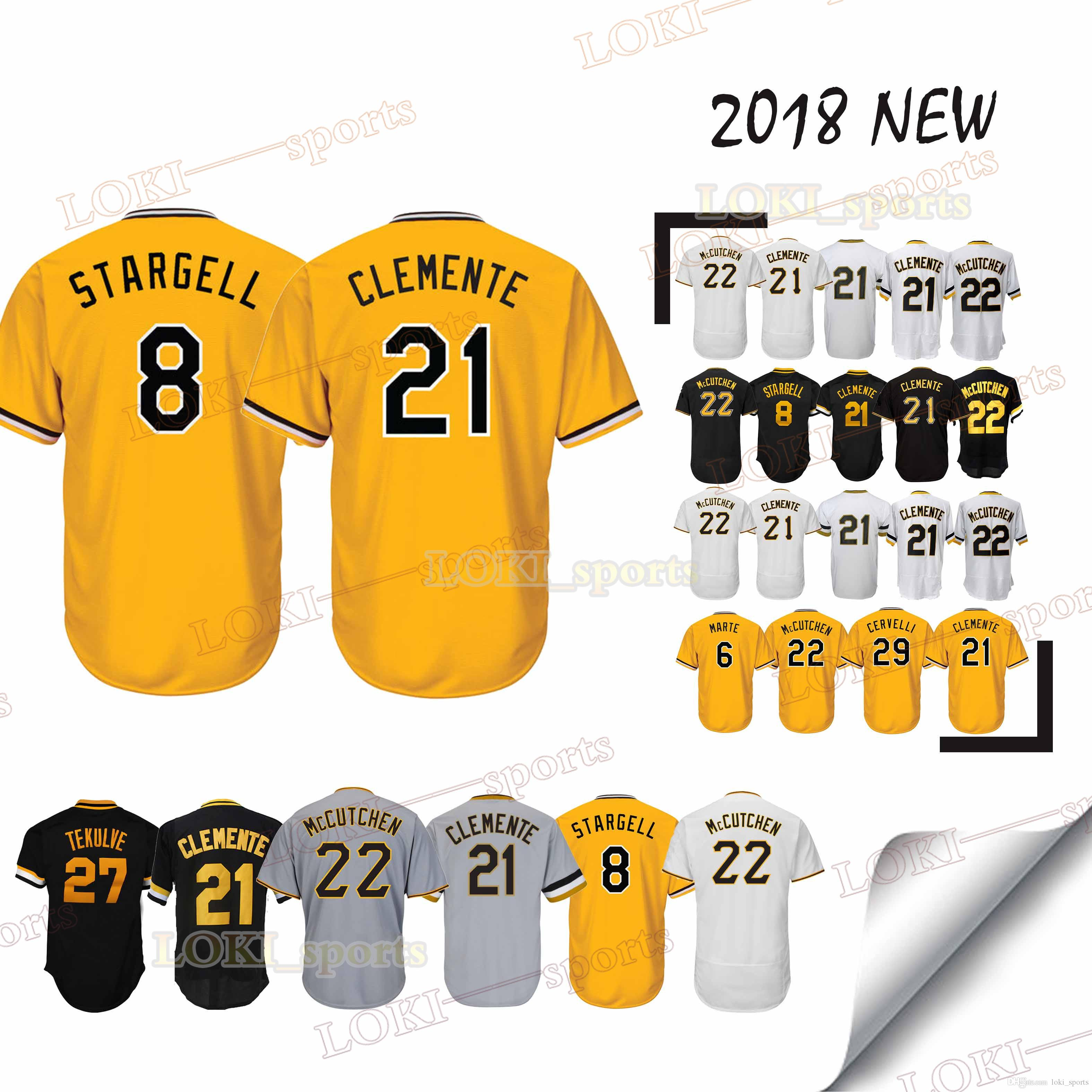 info for 7c818 e6625 Pittsburgh Pirates jerseys 8 Stargell Majestic 21 Roberto Clemente 29  Francisco Cervelli 6 Starling Marte 27 Kent Tekulve jersey sportswear