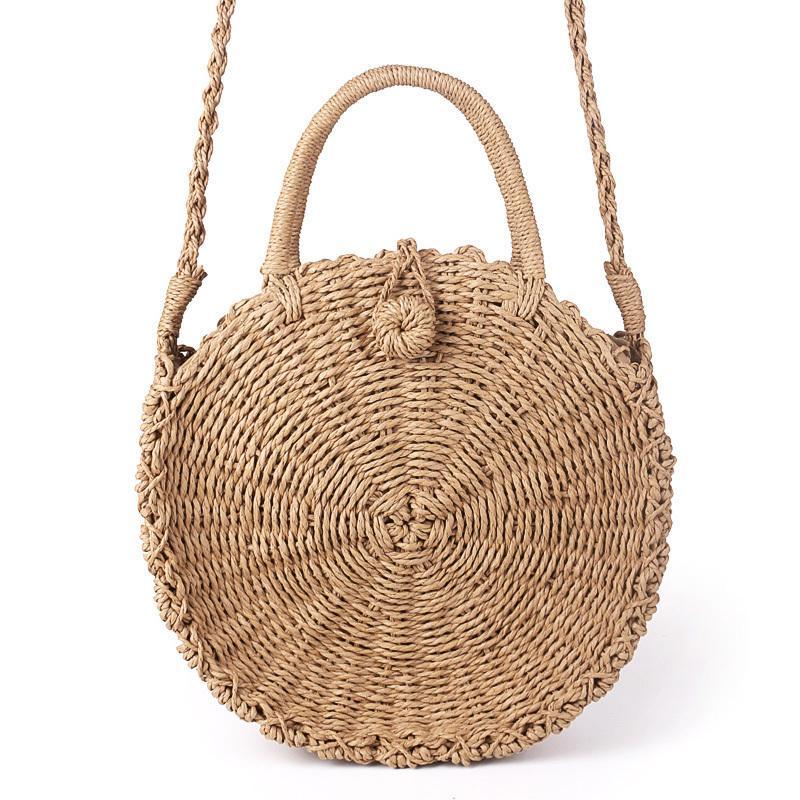 3eb2859b9a ... Intrecciato A Mano Borsa Vintage Retrò Paglia Corda A Maglia Messenger  Bag Lady Borsa Di Carta Fresca Summer Beach Tote A $18.05 Dal Bag22 |  DHgate.Com
