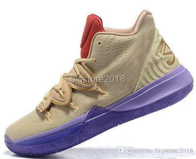 ae8d31636956 2019 Limited 5 5s V Basketball Shoes For Men Black Magic Kyrie Chaussures  Sports Sneakers Mens Trainers High Ankle Zapatillas Size 40 46 Basketball  Shoes ...
