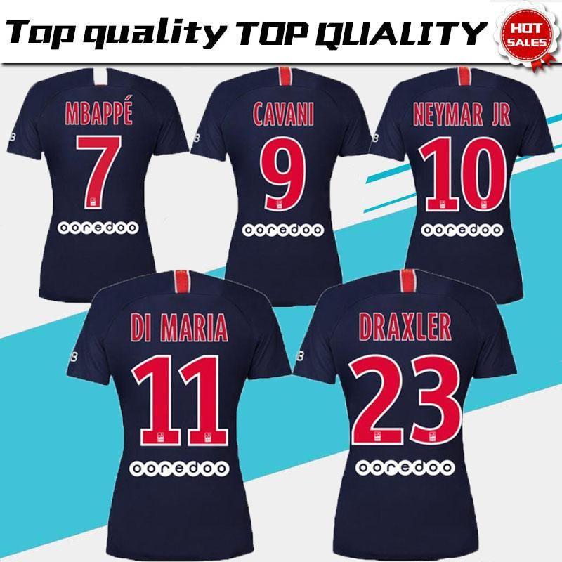 afaebe6b9 Women 2019  10 NEYMAR JR PSG Home Soccer Jerseys 18 19  7 MBAPPE ...