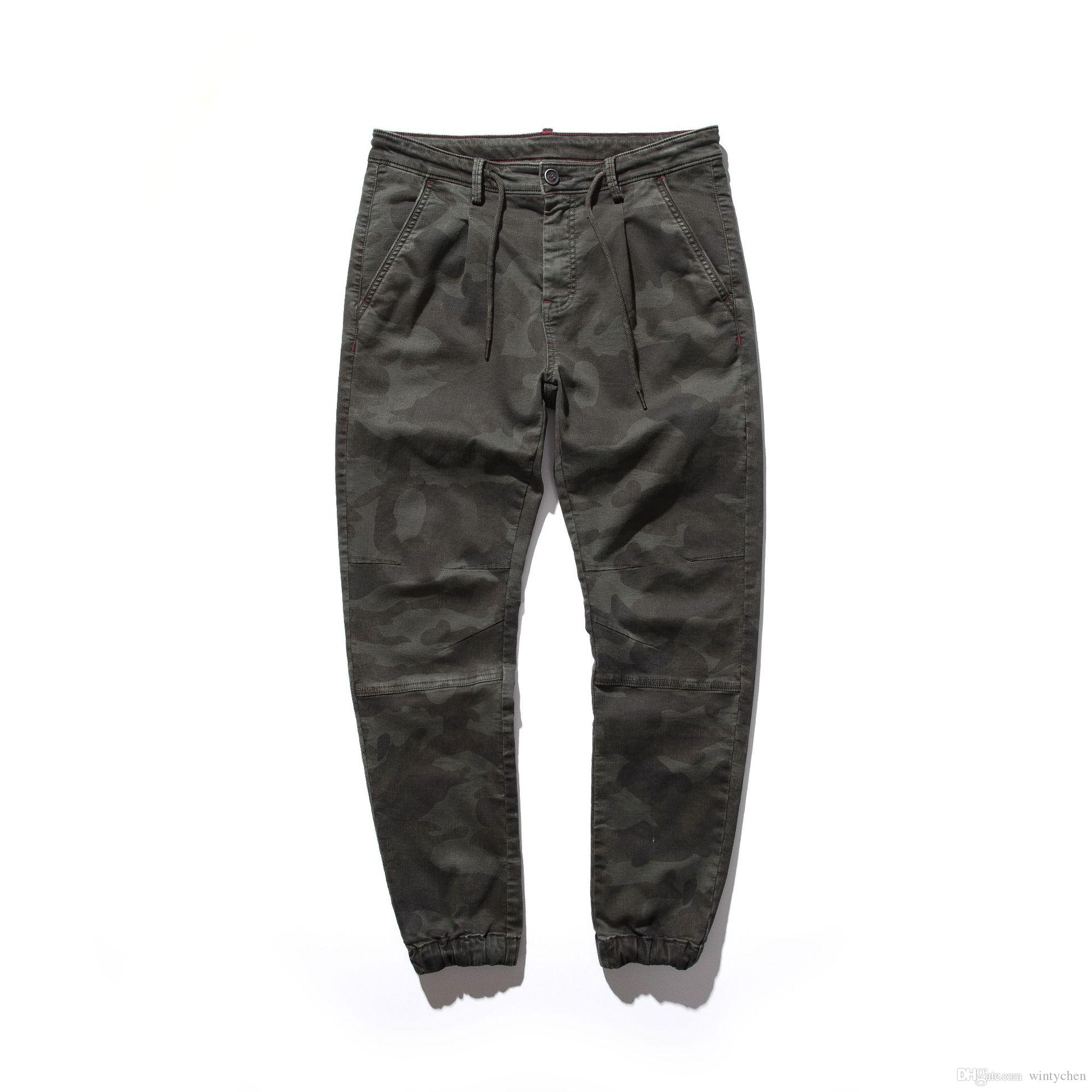 09bd6320b134 2019 Mens Cargo Pants Casual Cotton Pants Military Style Overalls Long Trousers  Men Plus Size Loose Tactical Pants High Quality F40 From Wintychen