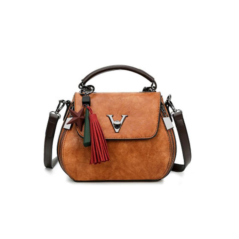2ffd593c7d 2019 Fashion Luxury Handbags Women Bags Designer 2018 Handbag Famous Brand Shoulder  Bags Fashion Tassel Ornaments Vintage Genuine Leather Handbags For Women ...
