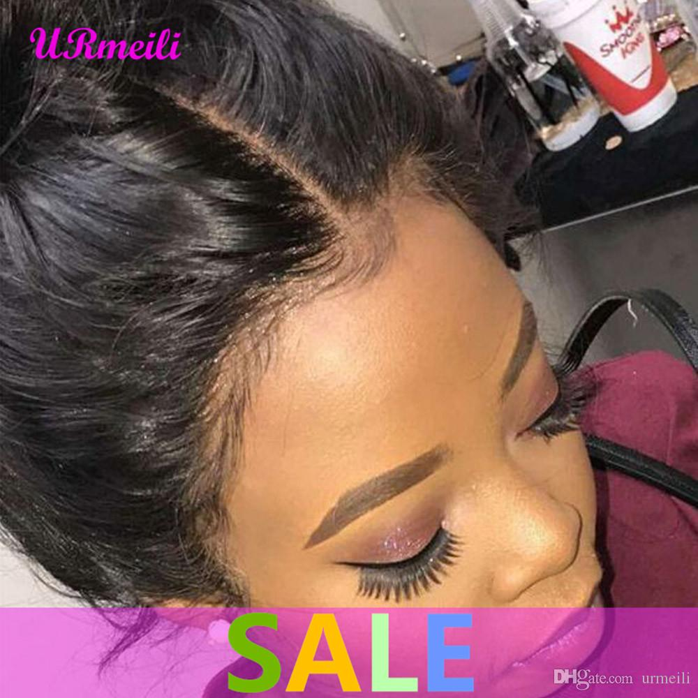 360 Lace Front Human Hair Wigs Brazilian Straight Pre Plucked With Baby Hair Full Lace Remy Human Made Hair Wig for Black Women