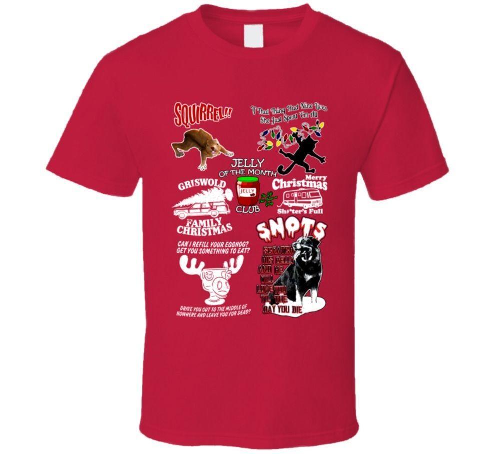 43090624446 ... Christmas Vacation Family Egg Nog Squirrel Clark Eddie Snot T Shirt