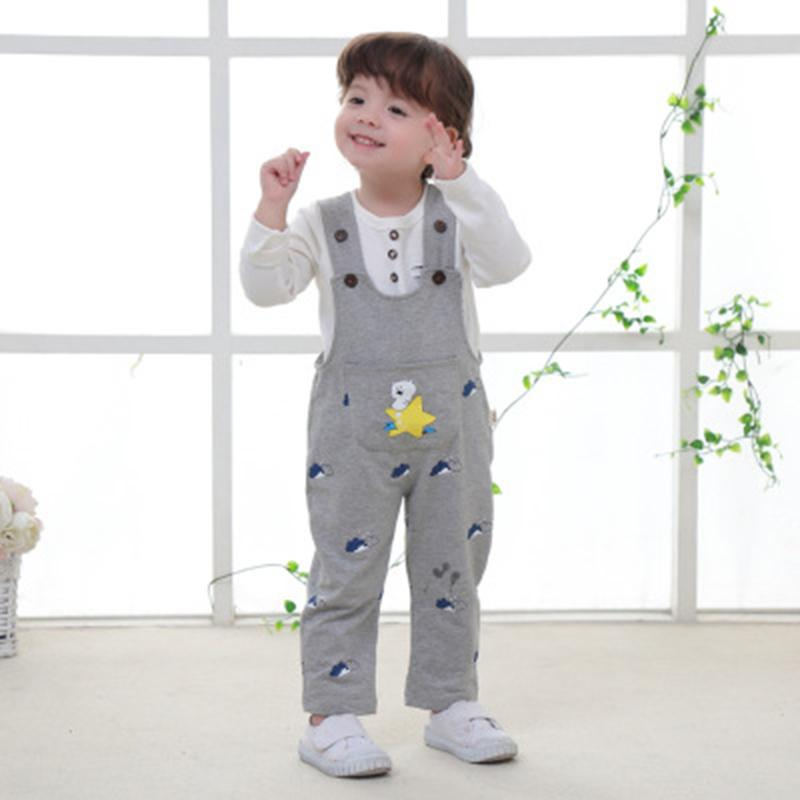 f06de41c078 2019 New Overalls Kids Corduroy Baby Bib Pants Jumpsuits For Kids Girls Boys  Baby Spring And Summer Trousers Can Open File Suspender And Bowtie Set Boys  Bow ...