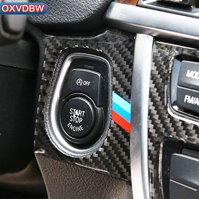 2019 For Bmw F30 F34 Interior Carbon Fiber Car Start Stop Engine