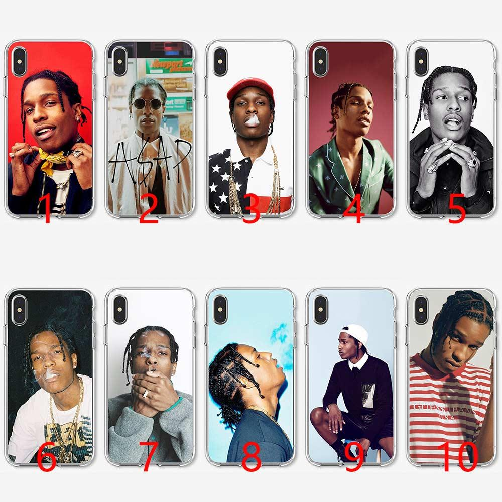 more photos 21e4b 85408 Asap Rocky Soft Silicone TPU Phone Case for iPhone 5 5S SE 6 6S 7 8 Plus X  XR XS Max Cover