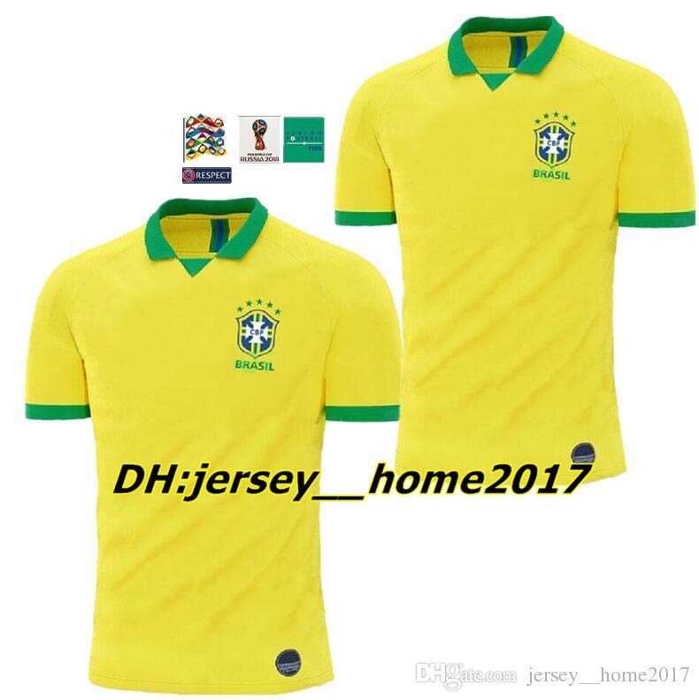19 20 Selección Nacional De Brasil COUTINHO Jersey De Fútbol 2019 2020  Brasil MARCELO WILLIAN Camiseta De Fútbol Camiseta De Fútbol PAULINHO  Fútbol De ... 8035b69264566