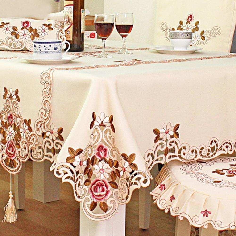 Table Cloth Home Textile Table Decorative Cloth Household European Pastoral Embroidered Tablecloth Kitchen Decoration