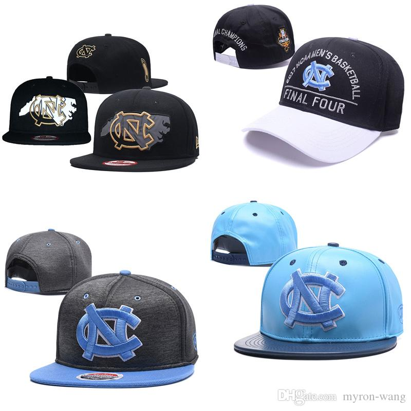 af6cbbe77fef7 2019 Wholesale College Basketball Hats North Carolina Tar Heels Caps Black  Gray Blue Snapbacks Hat Adult And Youth Cap From Myron Wang