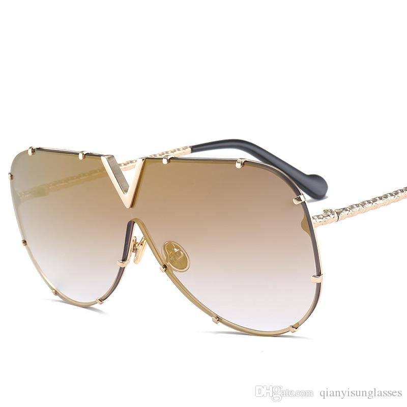 27f01f7ace Luxury Designer Sunglasses Men Women Big Frame Oversized Sun Glasses ...