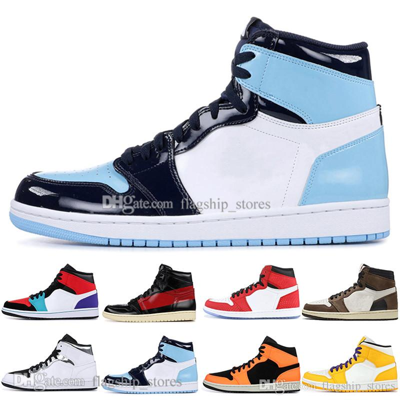 New 1 High OG Travis Scotts Basketball shoes Spiderman Couture UNC 1s top 3 Mens Homage To Home Royal Blue Sport Designer Sneakers Trainers