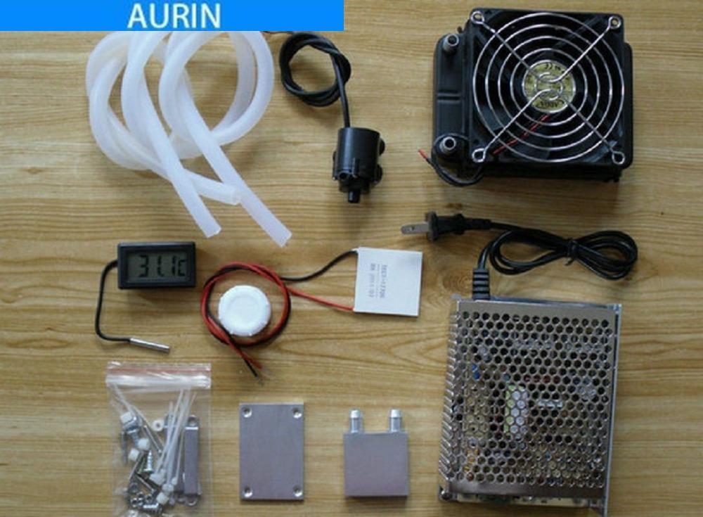 Peltier Water Cooling System Thermoelectric Refrigeration Peltier Cooler  Fan Peltier TEC1-12706 Kits