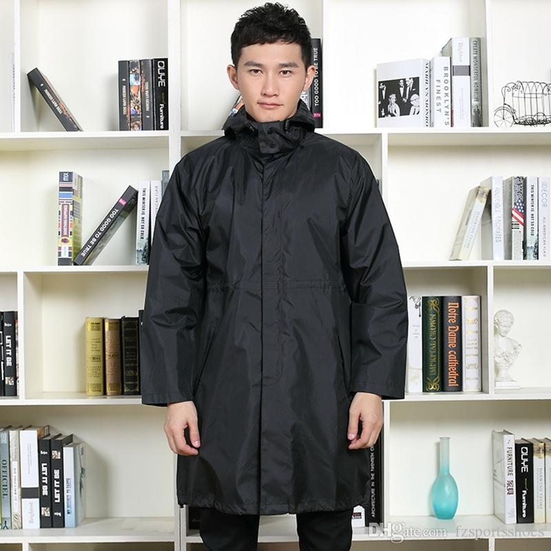 Women Raincoat Men Black Rain Clothes covers Impermeable Rainwear Capa de chuva chubasquero Poncho Waterproof Hooded Rain Coat #319577