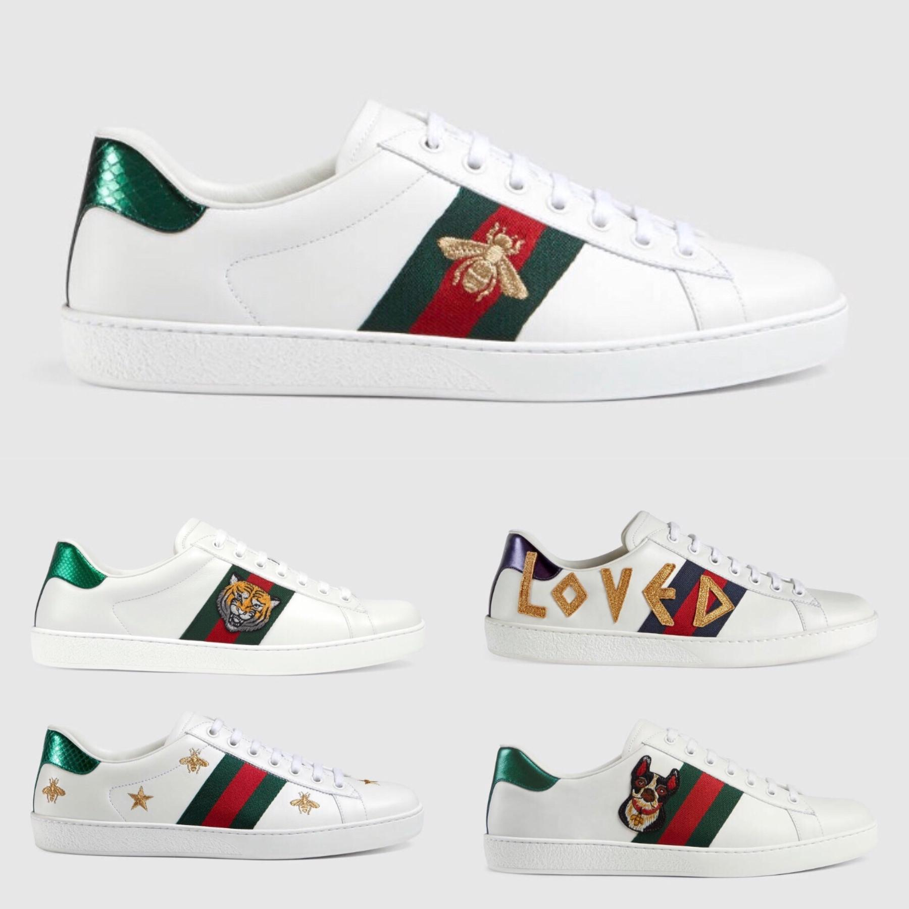 1ee698a73d1 ACE Embroidered Sneaker With Bee Star Mens Luxury Brand Designer ...