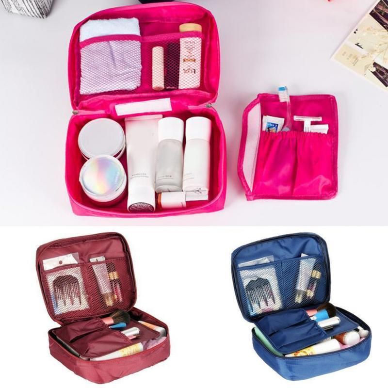 ba0ec999cd Nylon Zipper New Women Makeup Bag Cosmetic Bag Case Make Up Organizer  Toiletry Kits Storage Travel Wash Pouch Cosmetic Bags   Cases Cheap Cosmetic  Bags ...