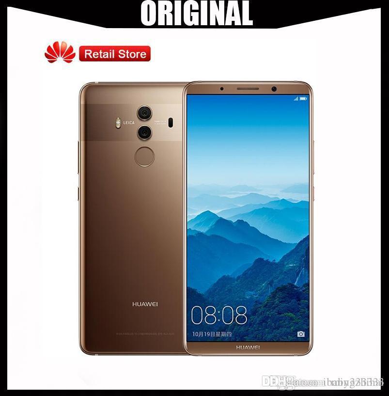 Original HuaWei Mate 10 Pro 4G LTE Cell Phone Kirin 970 Android 8 0 6 0  2160*1080 6GB RAM 128GB ROM 20 0MP NFC International Firmware