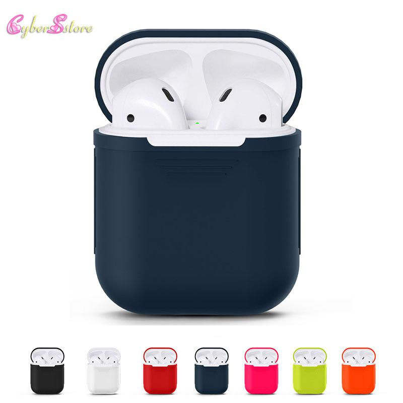 For Apple AirPods Silicone Case Protective Skin Wireless Bluetooth Cover for Apple Airpods Charging with opp package
