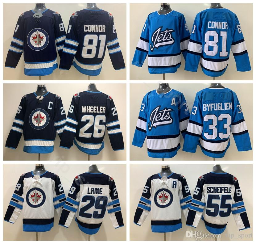 4a4f22ea849 2019 Winnipeg Jets 2019 Ice Hockey 33 Dustin Byfuglien Jersey Men 81 Kyle  Connor 29 Patrik Laine 25 Paul Stastny 37 Connor Hellebuyck From Vip sport