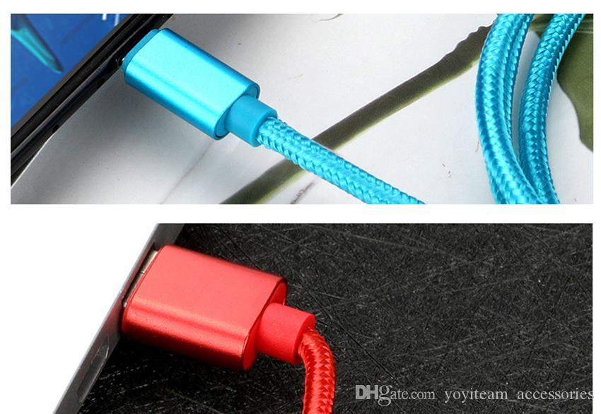 tip C USB mikro usb kablosu 10 ft tel 3 metre kablo senkronizasyon desteği hızlı şarj 3A kağıt kartı asmak ve UPC barkod tüm akıllı