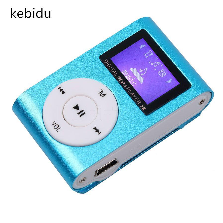 Kebidu Sport MP3 Player Mit LCD Bildschirm Metall Mini Clip Musik Kopfhorer USB Kabel Unterstutzung Micro TF SD Karte