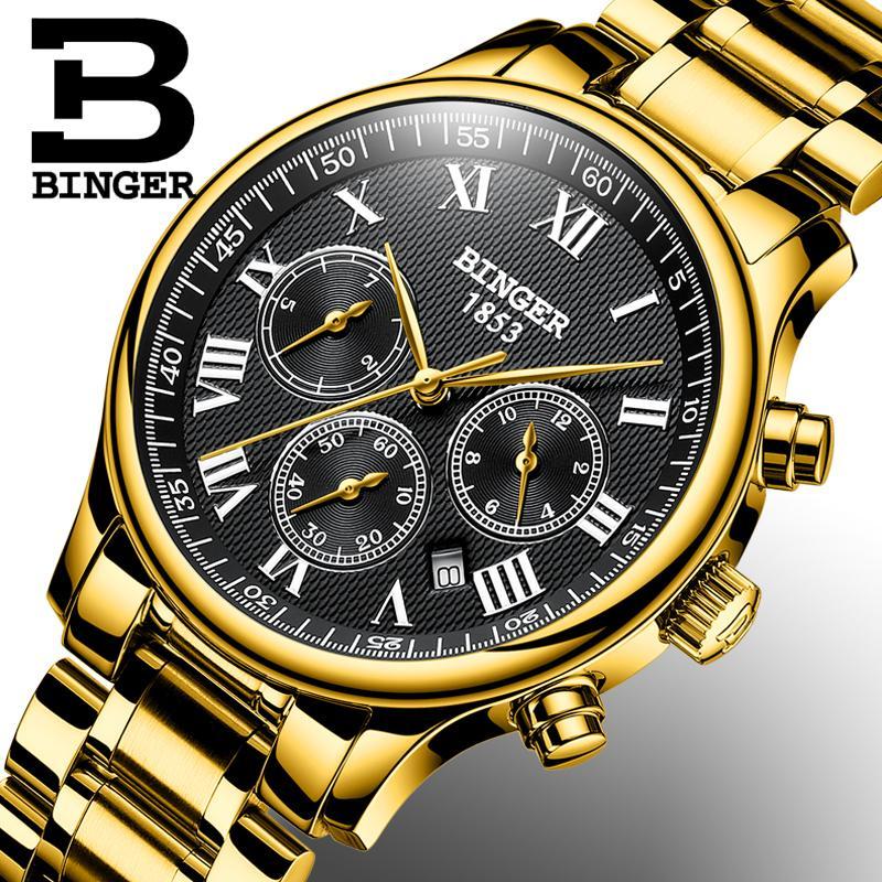 d71cdf54867 Compre Suíça BINGER Assista Men Marca De Luxo Relógio Dos Homens Automático  Mecânico Relógios De Pulso Safira Japão Movimento Reloj Hombre De Fabuline