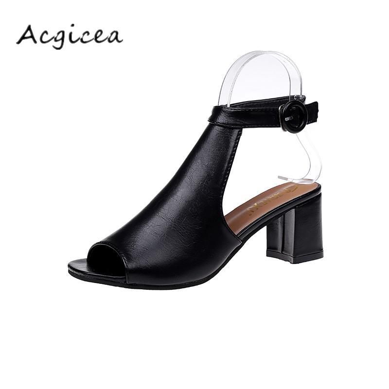 Acquista Designer Dress Shoes 2019 Estate Nuove Donne Di Spessore Con Punta  Aperta Sandali Tacco Alto Moda Donna Selvaggia Confortevole Tacchi A Spillo  Z160 ... d1482cc619a