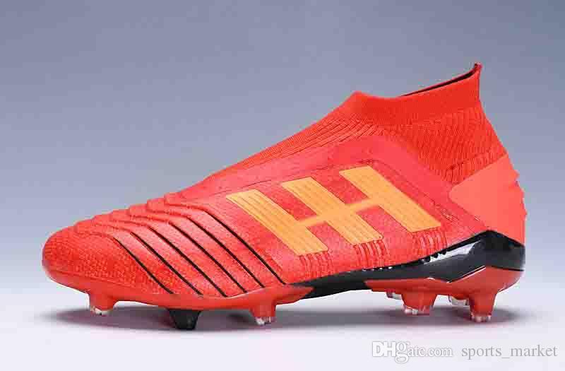 2cc12c819fa 2019 Original Predator 18 FG Soccer Cleats Chaussures De Football Boots  Mens High Top Ace Cristiano Ronaldo Soccer Shoes Neymar JR Football Shoes  From ...