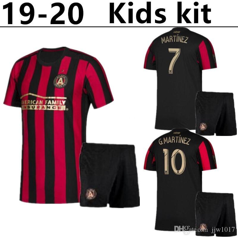 buy popular 63190 6d372 NEW 19/20 Atlanta United FC kids kit MLS Soccer Jersey 2019 Home MARTINEZ  G.MARTINEZ Soccer shirt VILLALBA BARCO Child football un