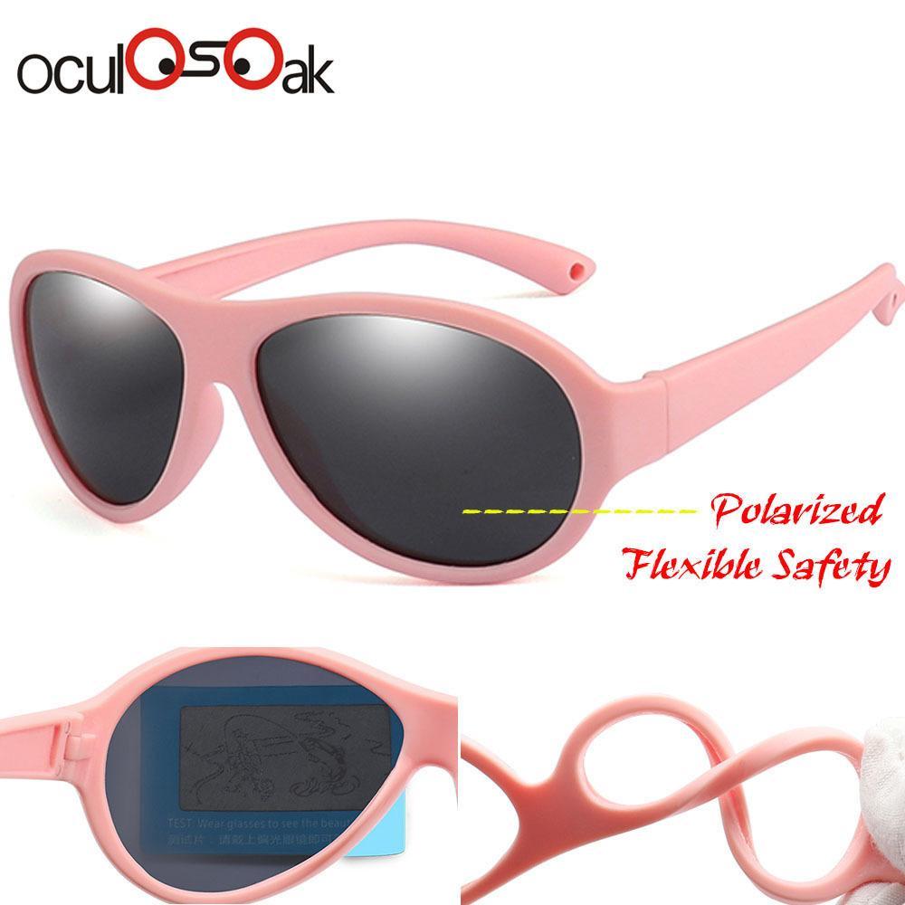 Girl's Glasses Kids Sunglasses Brand Baby Girls Sunglass Polarized Children Sun Glasses Flexible Safety Frame Uv400 Birthday Christmas Gifts Girl's Sunglasses