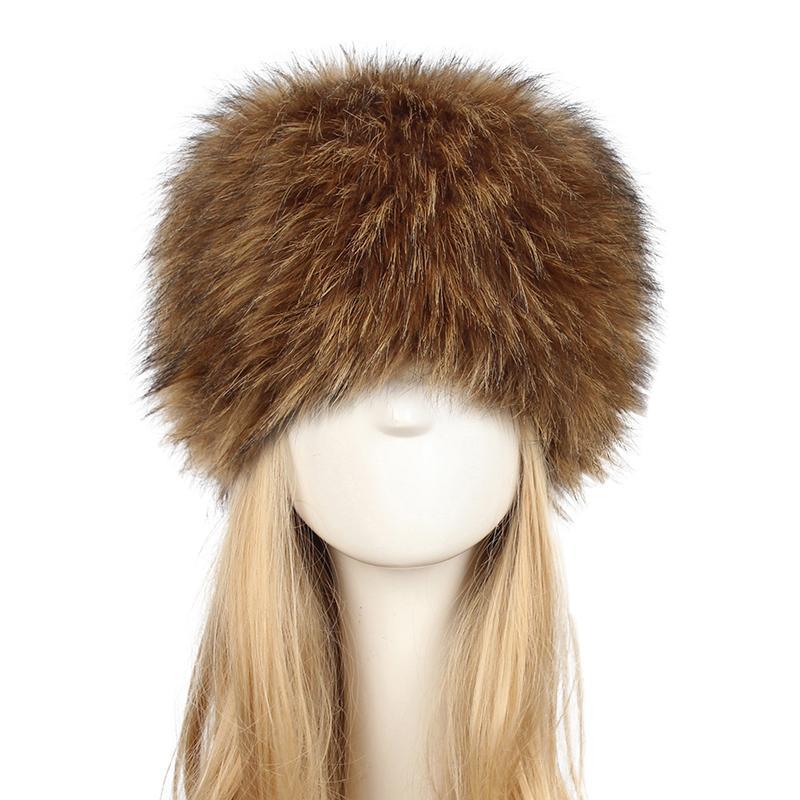Anself 2018 New Fake Fur Russian Hat Women Long Faux Rabbit Fur Winter Snow  Hat Full Fur Cap Warm Thick Russia Beret Beanies D19011503 Beanie Kids  Skull ... 4496b40d5