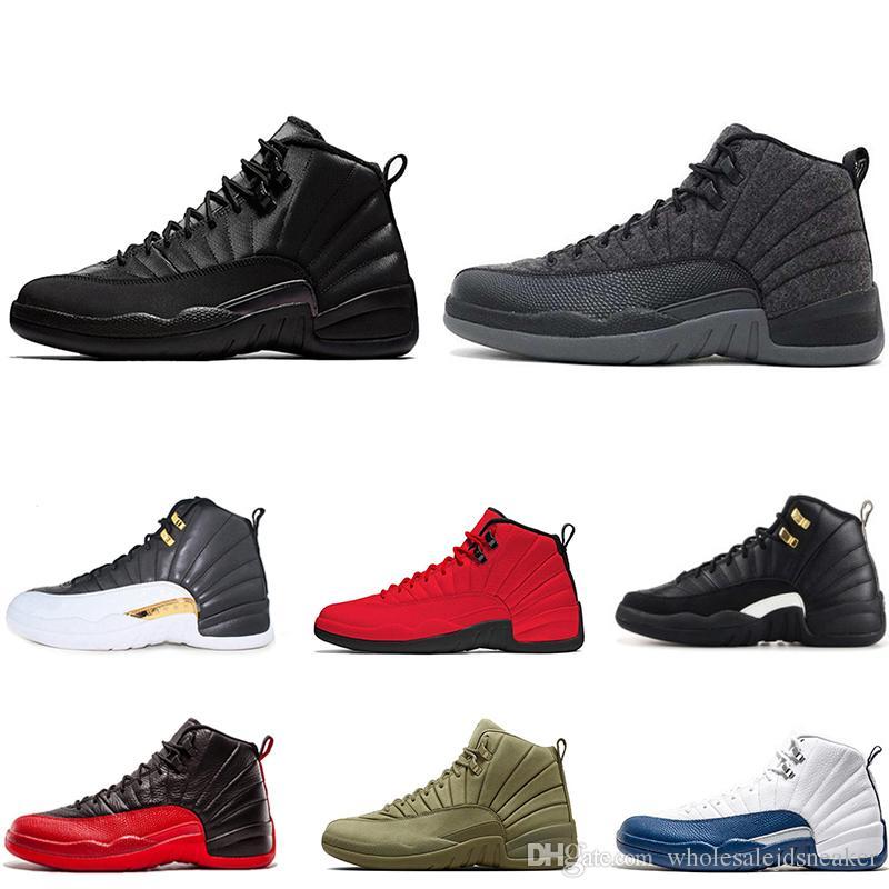 newest c8670 d45bf Compre NIKE AIR JORDAN RETRO Shoes Zapatillas De Baloncesto Baratas 12 S  Playoffs Blancos Francés Azul Taxi Gamma Blue Juego De Gripe Hombres  Entrenadores ...