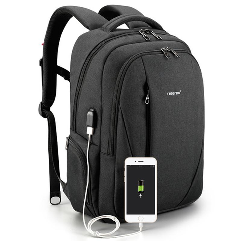 f8698f208 TIGERNU Laptop Backpack Sale Anti-theft Backpack with USB Charging Port  Waterproof Business Bagpack fits 15.6 Inch Laptop (Black Grey)