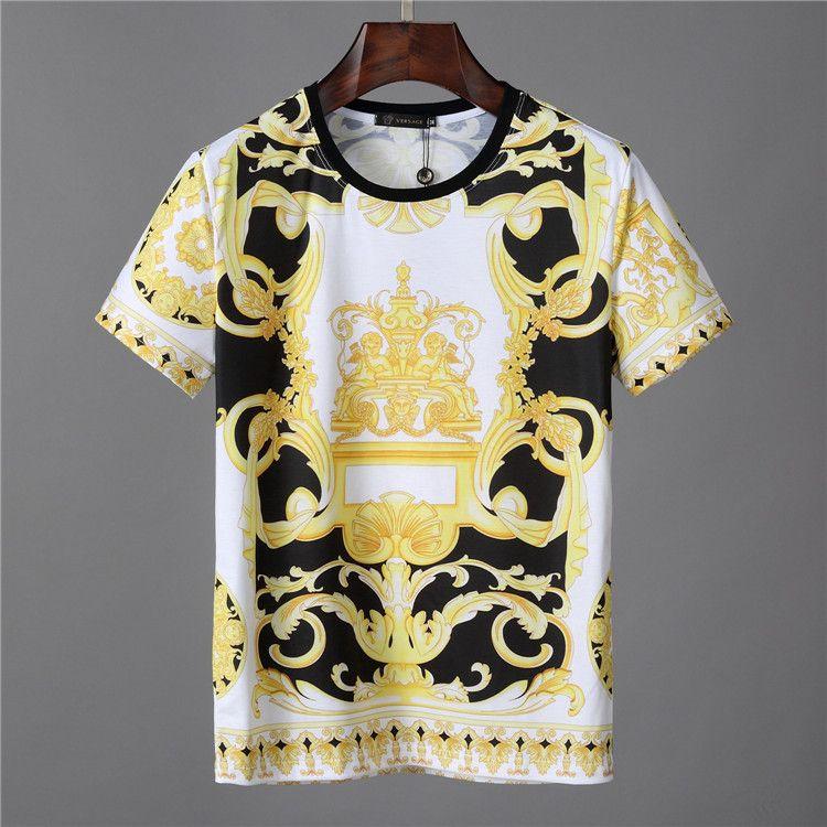 2bdddb74 19ss Brands Luxurys Baroque Print Ver T Shirts Mens Summer Designers Sace  Men'S Women Short Sleeved T Shirt Tops Tee 22026 Interesting T Shirt  Purchase T ...